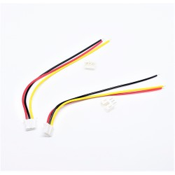 x2 Pcs Micro JST 2.0 PH 3-Pin Connector plug with Wires Cables 100MM
