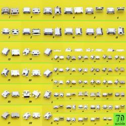 70 Modèles 5p 5pin connecteur mini-usb de charge pour samsung oppo HTC Milet Lenovo ZTE téléphone mobile tablette pc
