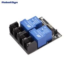 RobotDyn Módulo de relé 2 relés, 5V, 30A