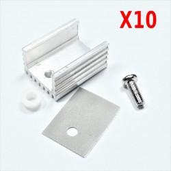 10 sets HEATSINK Disipador de calor con juegos de tornillos para TO-220
