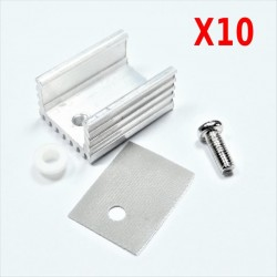 10 sets HEATSINK Heat Sink With Screw Sets For TO-220