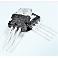 Transistor bipolar simple TIP127 TO-220 (BJT), Darlington, PNP, 100V, 5A, 65W