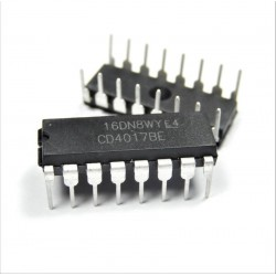 CD4017BE Contador / divisor decimal DIP IC CD4017 CD4017-BE
