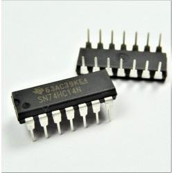 SN74HC14N - Compuerta inversor, disparador Schmitt, 1 entrada DIP-14