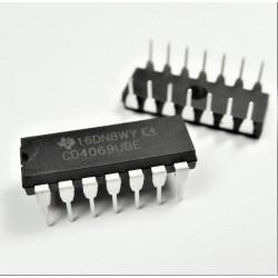 Inversor CD4069UBE, CD4069, 6 entradas, DIP-14 CD4069-UBE