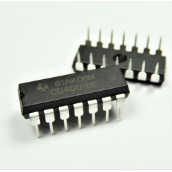 CD4001BE Puerta NOR, CD4001, 2 entradas DIP-14 CD4001-BE