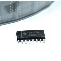 ULN2003A Red de transistores bipolares, Darlington, NPN, SOIC, SMD ULN2003