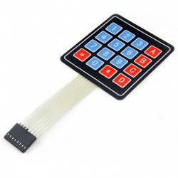 16-key 4x4 touch matrix keyboard for Arduino