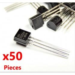 x50 pcs 2N2222 NPN 40V 0.8A Transistor TO-92 2n2222a