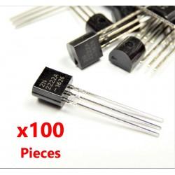 x100 pcs 2N2222 NPN 40V 0.8A Transistor TO-92 2n2222a