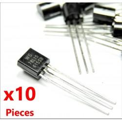 10 Unids 78L15 Regulador de Voltaje Lineal TO-92, 15V 100mA WS78L15