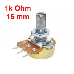 Potentiometer 1k ohm B1K linear WH148 with nuts and washers