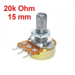 Potentiometer 20k ohm B20K linear WH148 with nuts and washers