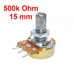 Potentiometer 500k ohm B500K linear WH148 with nuts and washers
