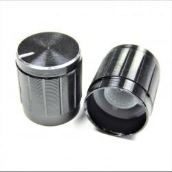 Bouton aluminium pour potentiometre axe de 6 mm