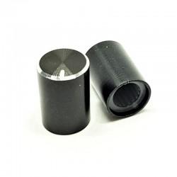 Bouton aluminium 10x14 pour potentiometre axe de 6 mm