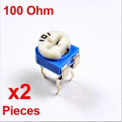 Resistori x2 pezzi VARIABILE 100 Ohm (101) CARBONIO ORIZZONTALE rm-065