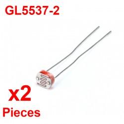 x2 pcs GL5537 Fotowiderstand 30-50kΩ Photoelektrischer Widerstand LDR