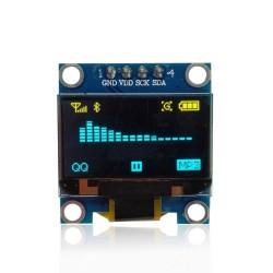 Module d'affichage OLED jaune bleu 0,96 pouces 128X64 IIC pour arduino