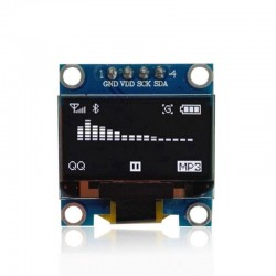 0.96 inch 128X64 bianco OLED Display Module IIC for arduino
