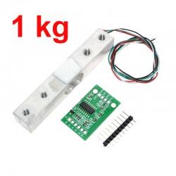 Capteur de poids 1kg + module ADC de précision HX711 24BIT