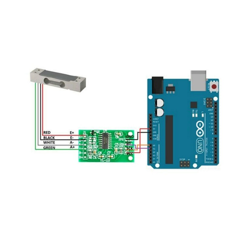 Load Cell Vs Force Sensor: 1kg Weight Sensor + Precision ADC Module HX711 24BIT