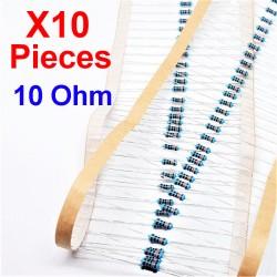 x10 Pcs 10 Ohm, Résistance...