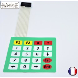 Clavier matriciel membrane matrix keyboard 4X5 Pour Arduino