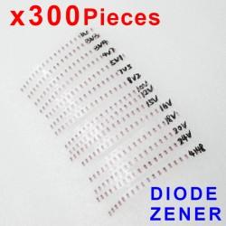 Zener diode lot LL34 SMD 1/2W 3v-24v 15 kinds x 20pcs, 300pcs
