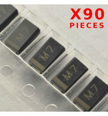 X90Pcs Rectifier Diode M7 1N4007 1A 1000V SMD / CMS DO214
