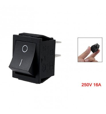 Rocker switch 16A black 4 PIN DPST