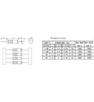 x10 Pcs 51K Ohm Metal Resistance ± 1/% 51K 2W R1231Z