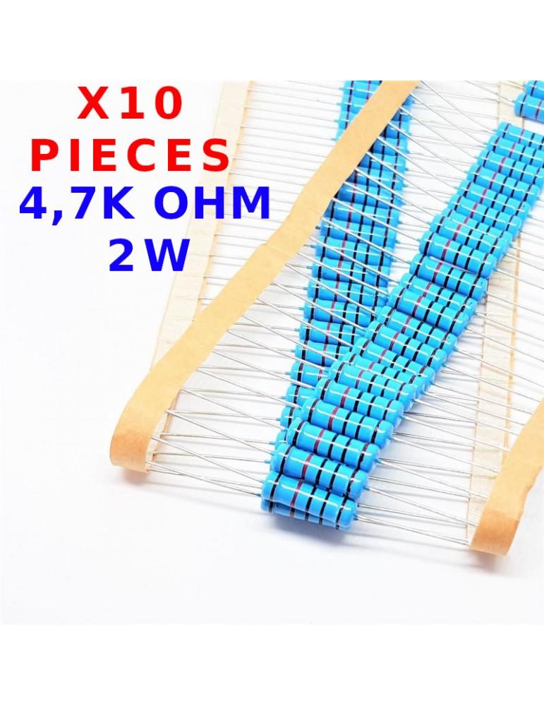 vs-elec R/ésistance traversante x20 Pcs 4,7K Ohm /± 1/% 4K7 1//4 W 0.25 MF25