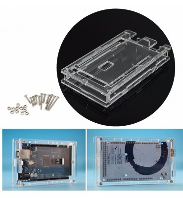 Transparent acrylic case for Arduino MEGA 2560 and compatible