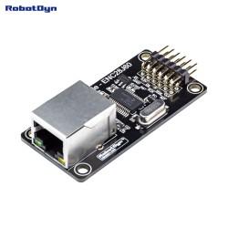 RobotDyn Module Ethernet - ENC28J60, entrée d'alimentation 3.3V / 5V