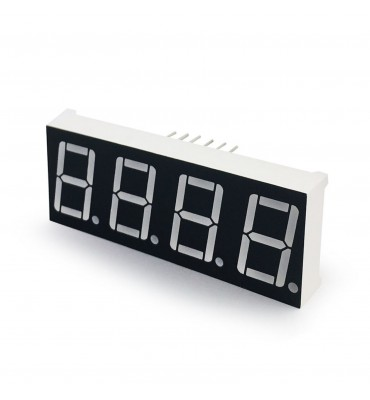 LED display Red 14mm 4 digit 7 red segments AC