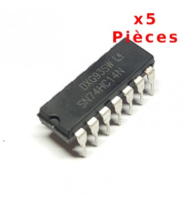 X5 Pcs 74HC14N, Sextuple Inverter Trigger DIL14 DIP14
