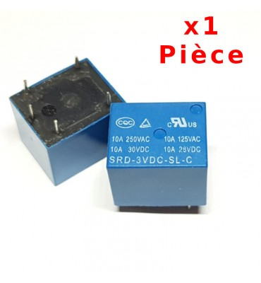 Relay 3V - 250V / 10A SRD-03VDC-SL-C