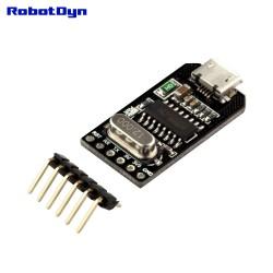 RobotDyn Adaptateur série MicroUSB-TTL CH340G, 5V / 3.3V