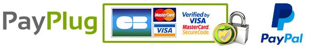 Paiement par Visa, Mastercard, PayPal, 3d secure par payplug